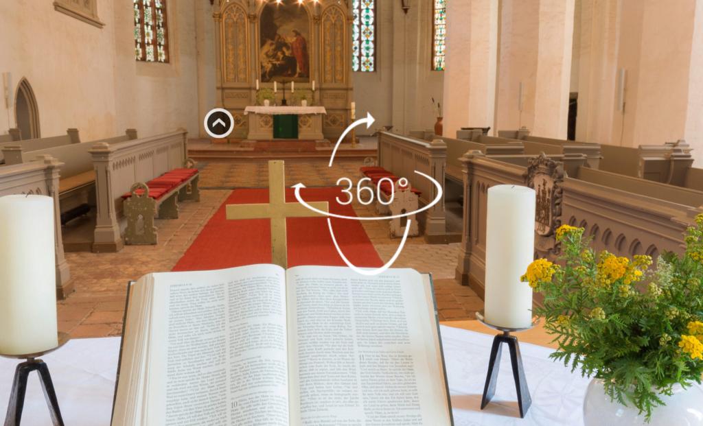 360°-Visualisierung einer Kirche